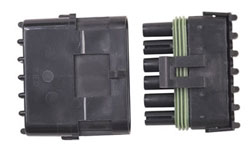 Weathertight Sealed Connector - Male Tower/Female Shroud With Pins And Seals