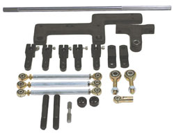Precision Roller Bearing Dual Carburetor Linkage Kit - Complete Side Mount