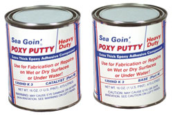 Heavy Duty Sea Goin' Poxy Putty - 3 lbs  / 1 Quart