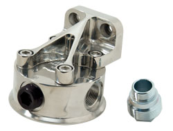Remote Vertical Bulkhead Mount HP4 or HP6 Oil Filter Head
