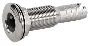 "3/4"" Slip-On Hose Stainless Steel Water Discharge Fitting - Long"