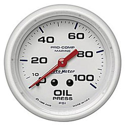 "Autometer 2-5/8"" Mechanical  0-100 PSI Oil Pressure"