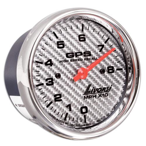 Livorsi GPS Speedometer Gauge Mega & Race Rim 3-3/8