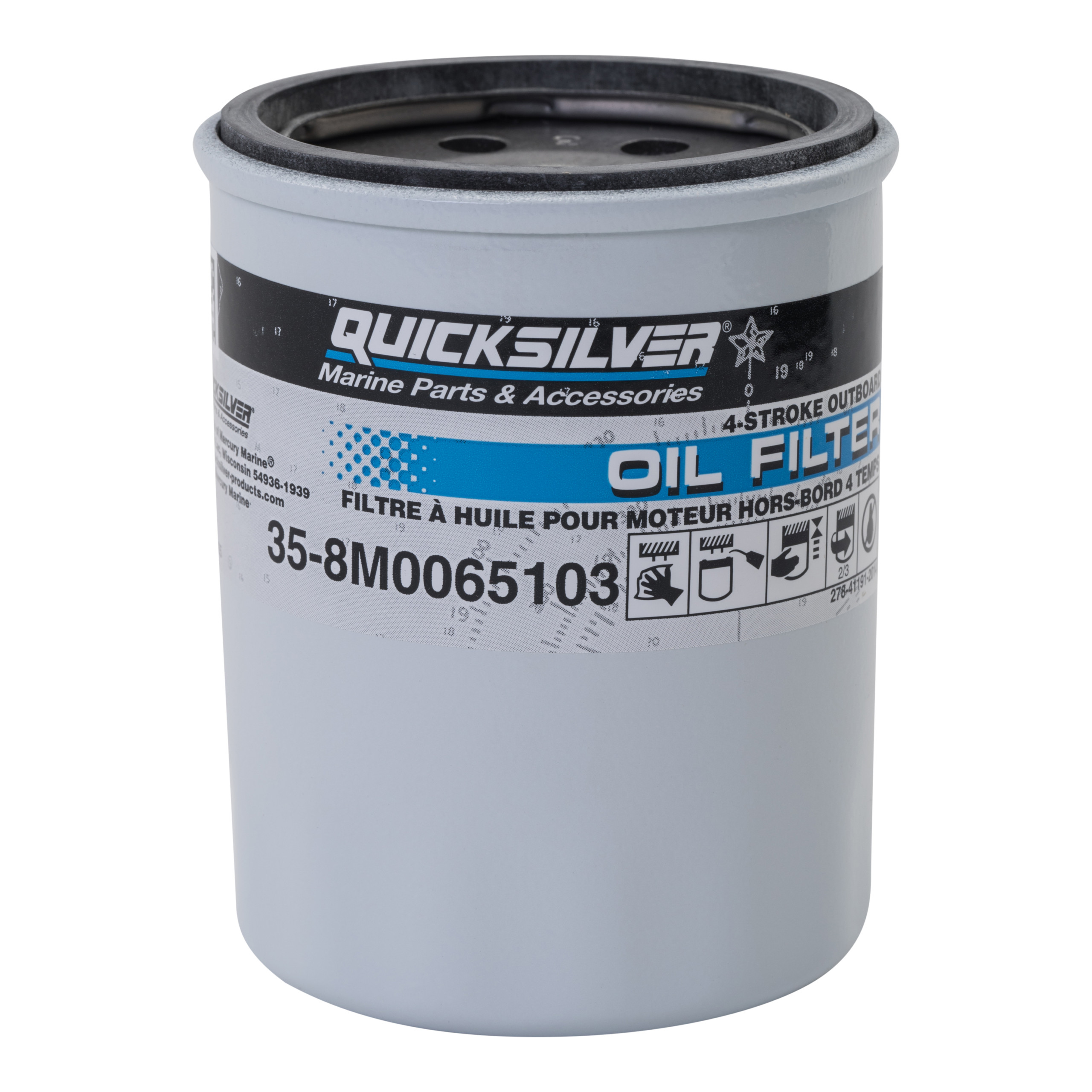 8M0065103 Oil Filter - Mercury and Mariner 4-Stroke Outboards 25 HP Through  115 HP