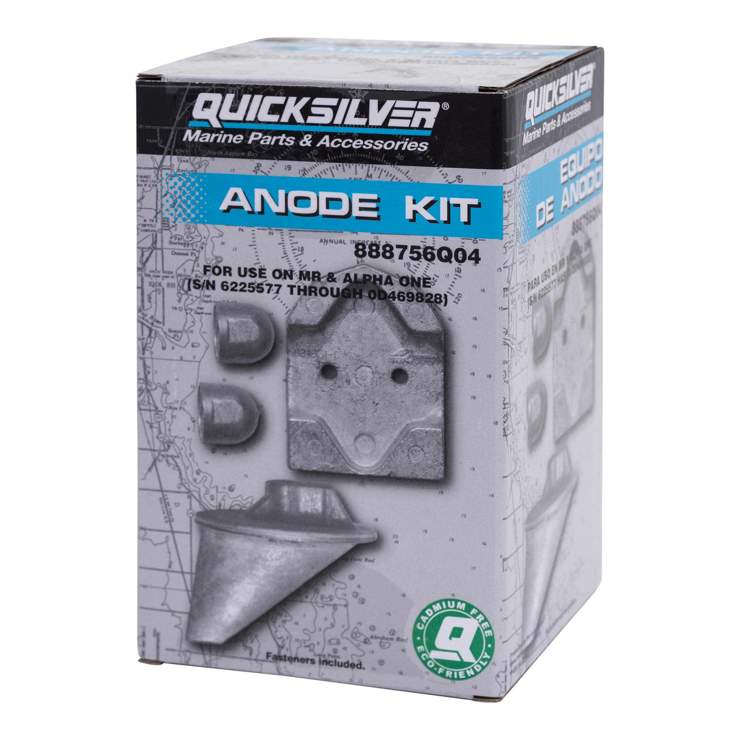 New Mercury Mercruiser Quicksilver Oem Part # 888756Q04 Anode Kit