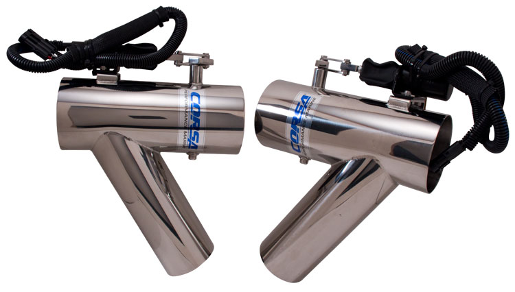 Exhaust Diverter System - Mercruiser 496 Polished