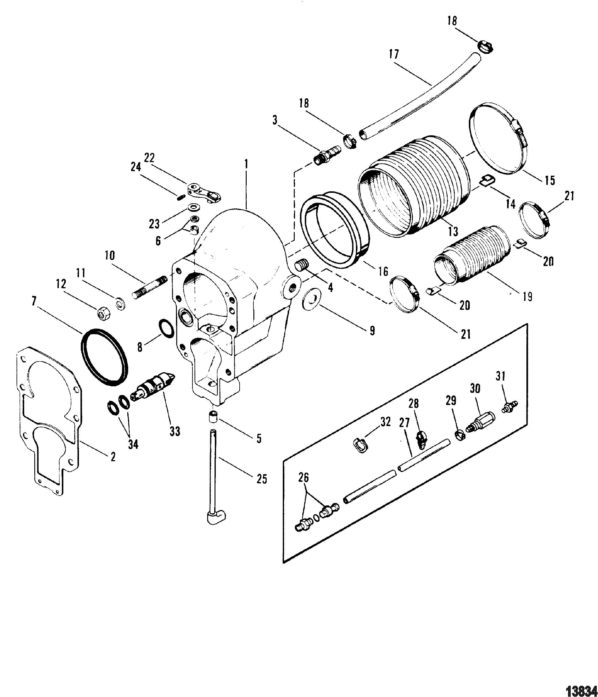 C 2.5 HUB 1.625//1.626 3//8KW