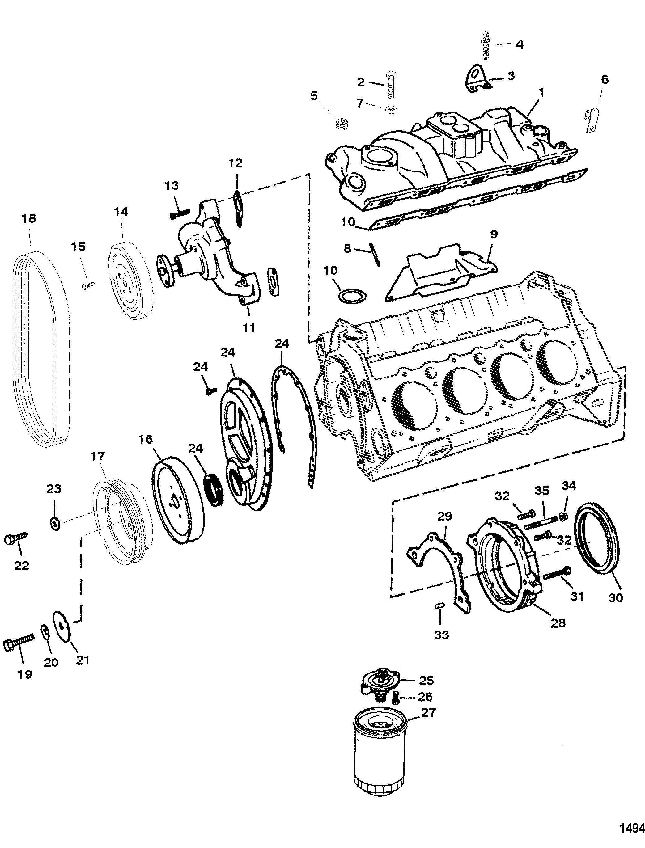 [NRIO_4796]   CP Performance - Intake Manifold And Front Cover   Gm 350 Intake Manifold To Engine Diagram      CP Performance