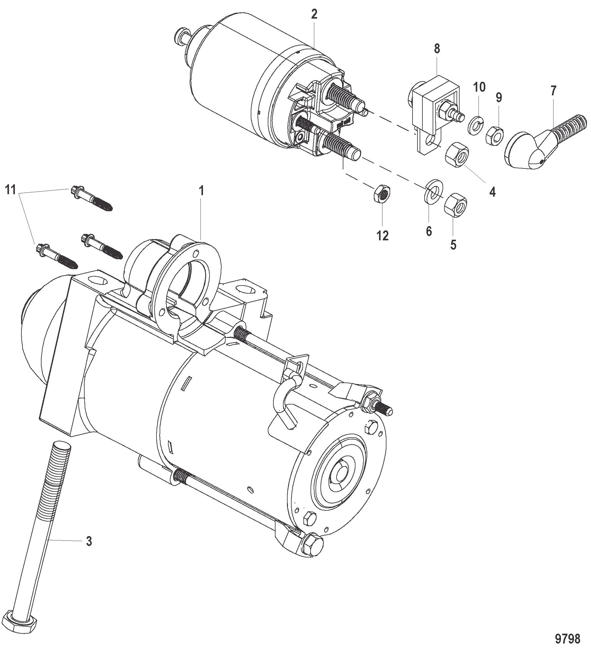 Mercury-Mercruiser OEM 10-8053432 SCREW .375-16 x 4.33